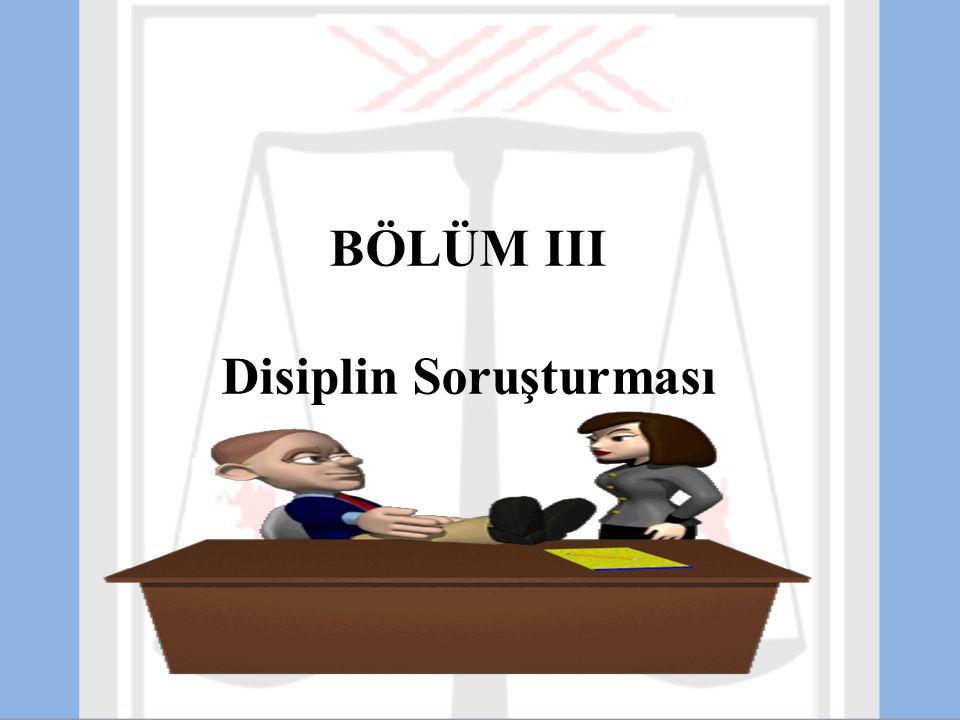 Disiplin Soruşturması