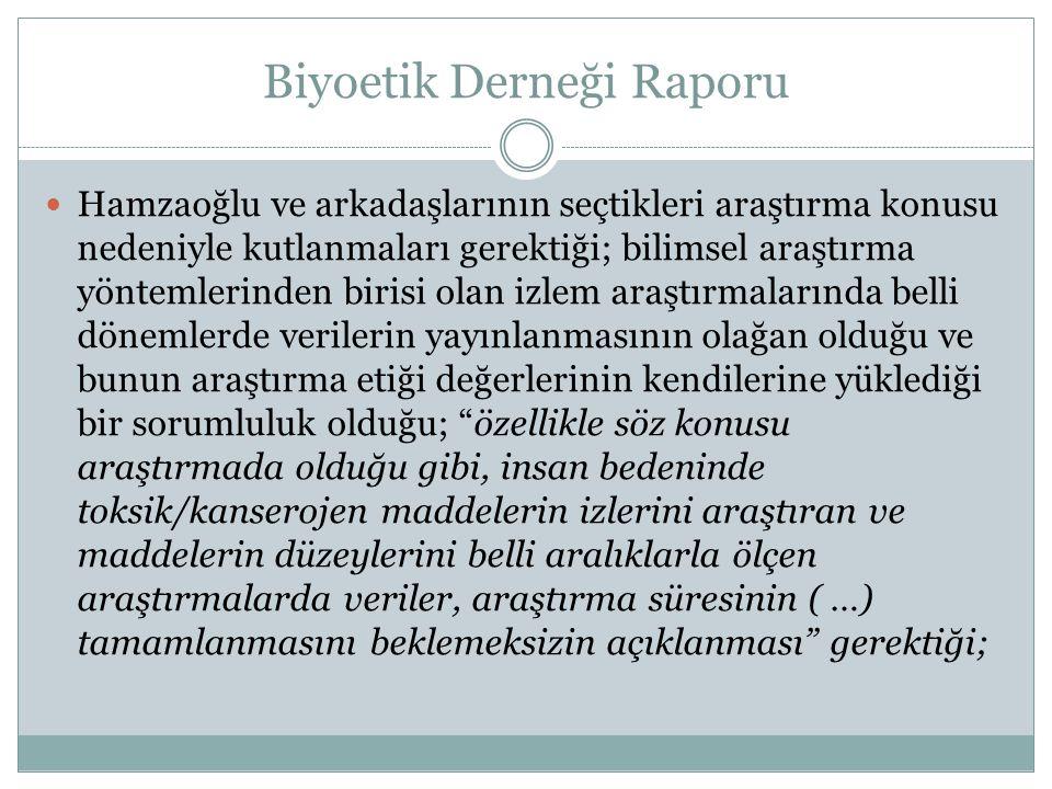 Biyoetik Derneği Raporu