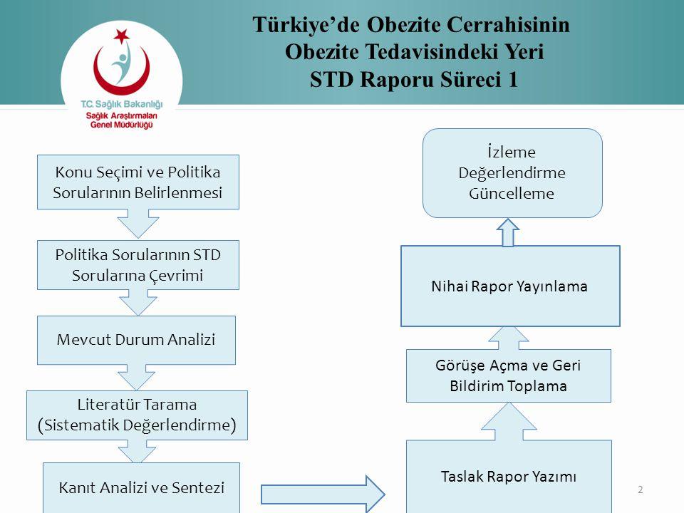 Türkiye'de Obezite Cerrahisinin Obezite Tedavisindeki Yeri