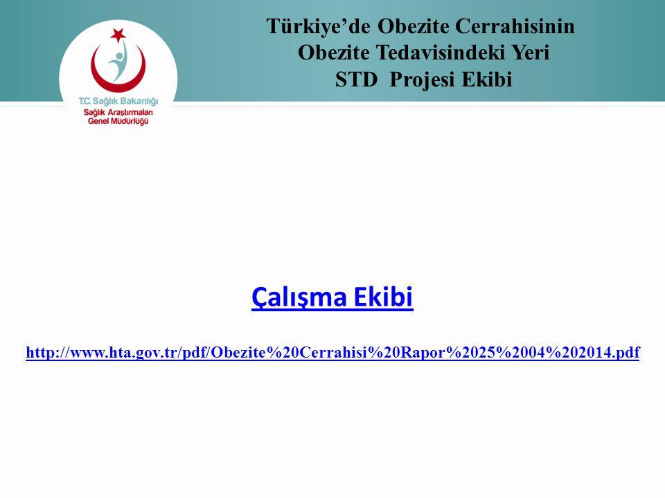 Türkiye'de Obezite Cerrahisinin Obezite Tedavisindeki Yeri STD Projesi Ekibi