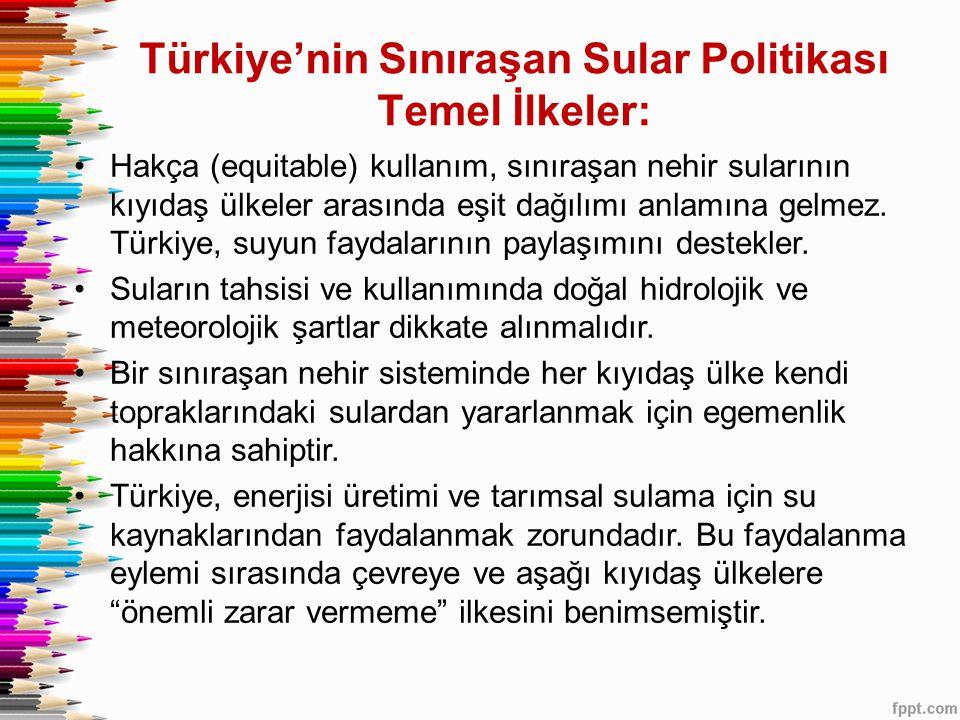 Türkiye'nin Sınıraşan Sular Politikası Temel İlkeler: