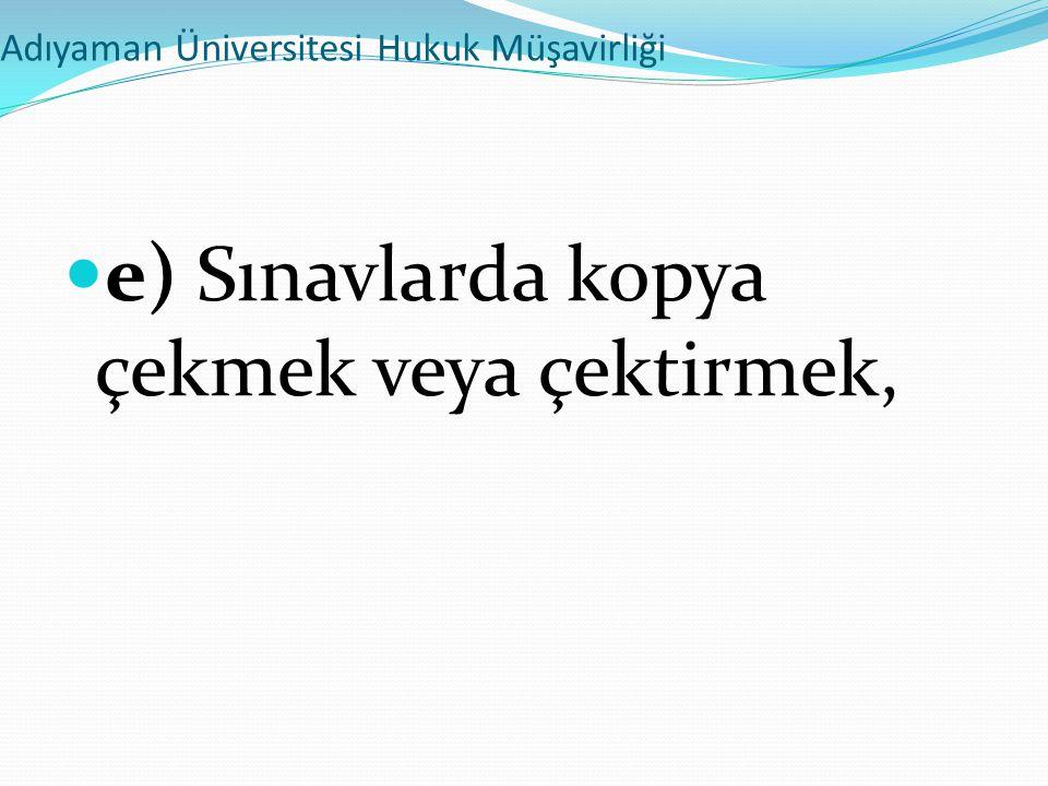 Adıyaman Üniversitesi Hukuk Müşavirliği