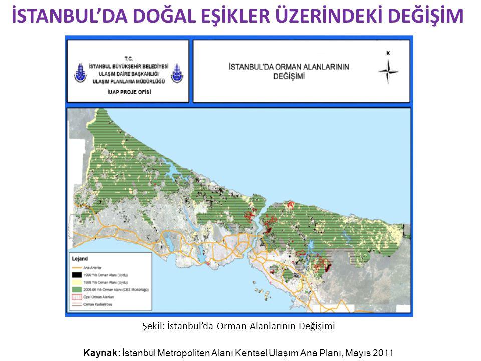 İSTANBUL'DA DOĞAL EŞİKLER ÜZERİNDEKİ DEĞİŞİM