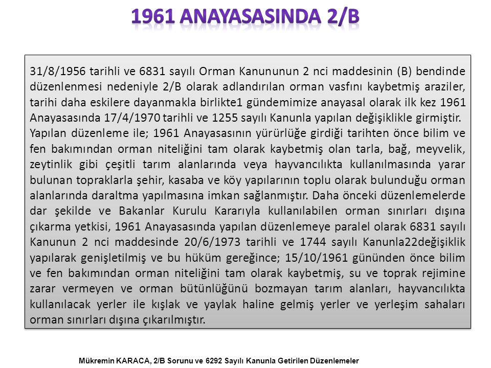 1961 anayasasInda 2/B