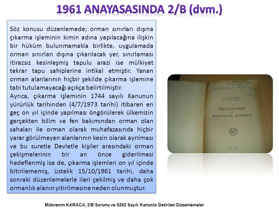 1961 anayasasInda 2/B (dvm.)