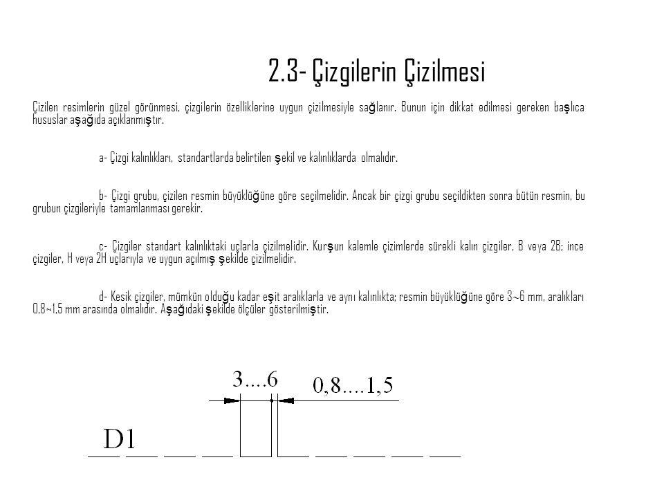 2.3- Çizgilerin Çizilmesi