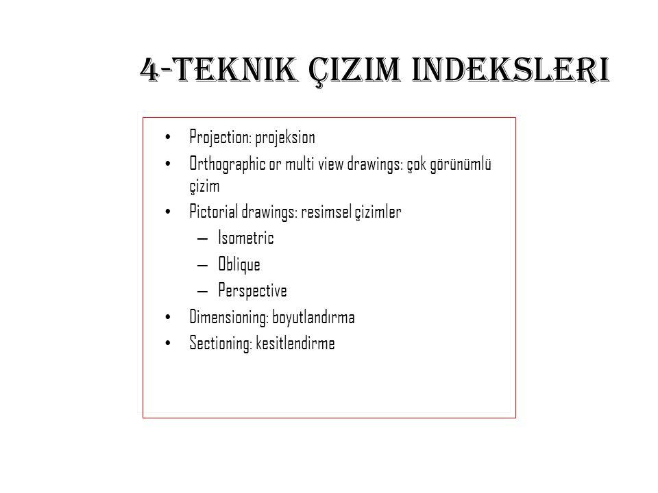 4-Teknik çizim indeksleri