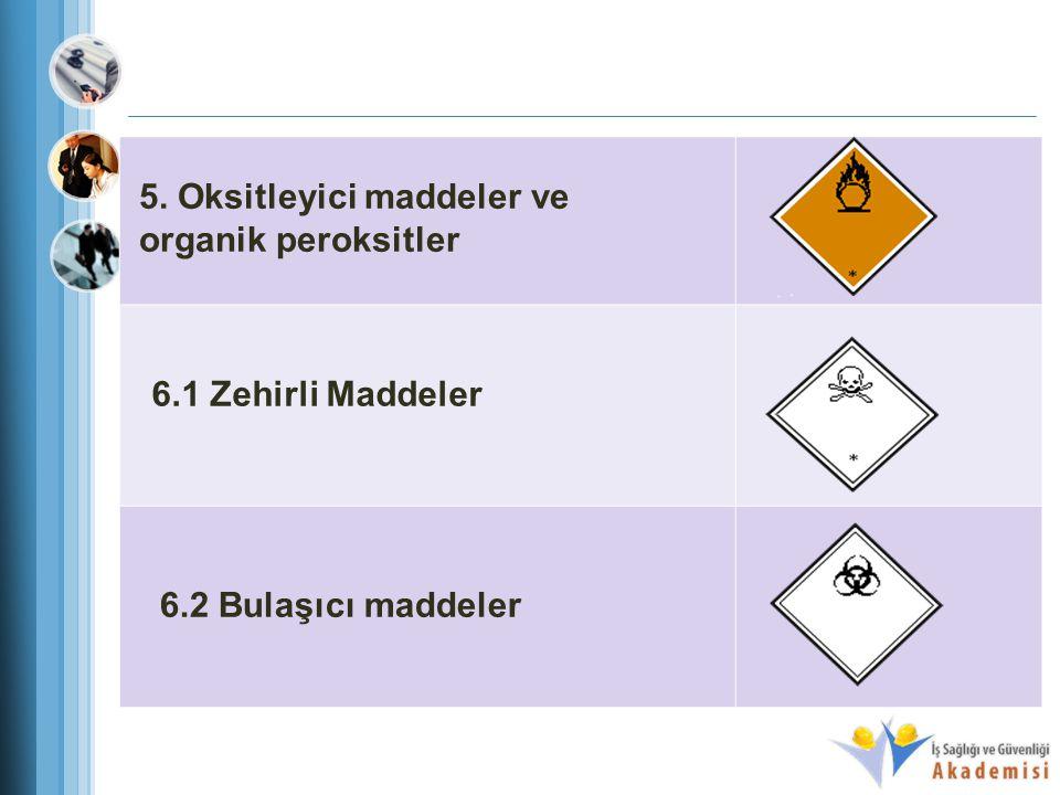 5. Oksitleyici maddeler ve