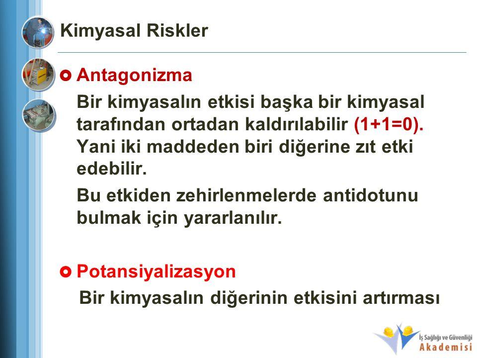 Kimyasal Riskler Antagonizma.