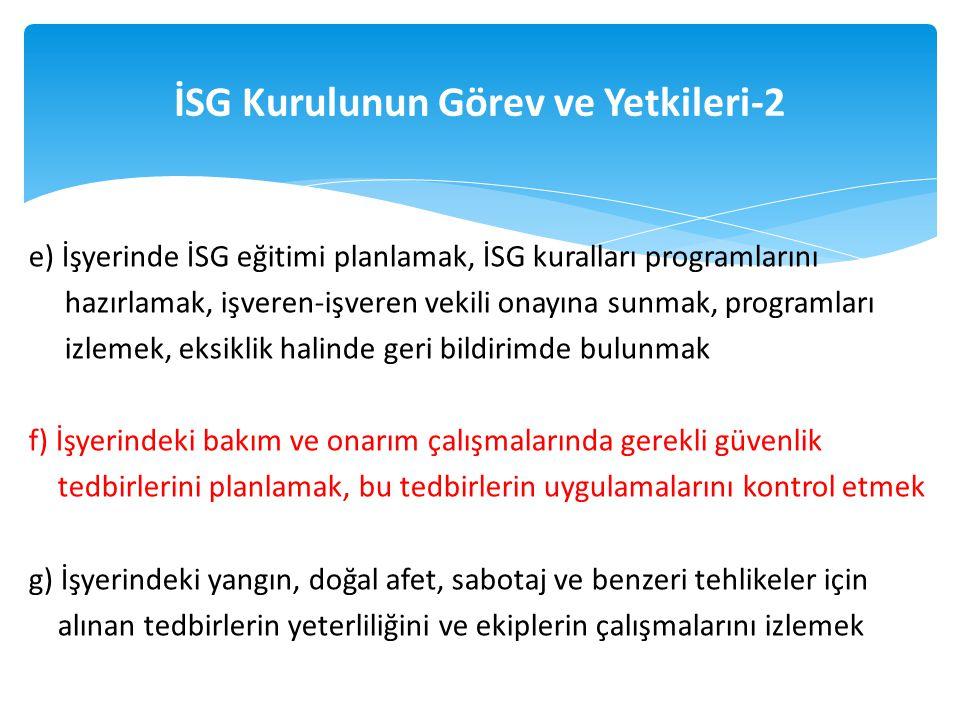İSG Kurulunun Görev ve Yetkileri-2