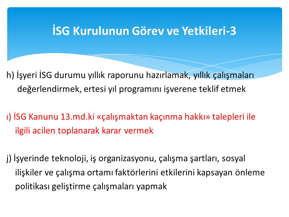 İSG Kurulunun Görev ve Yetkileri-3
