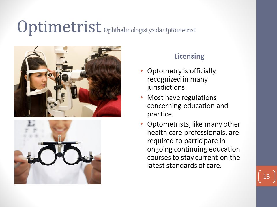 Optimetrist Ophthalmologist ya da Optometrist