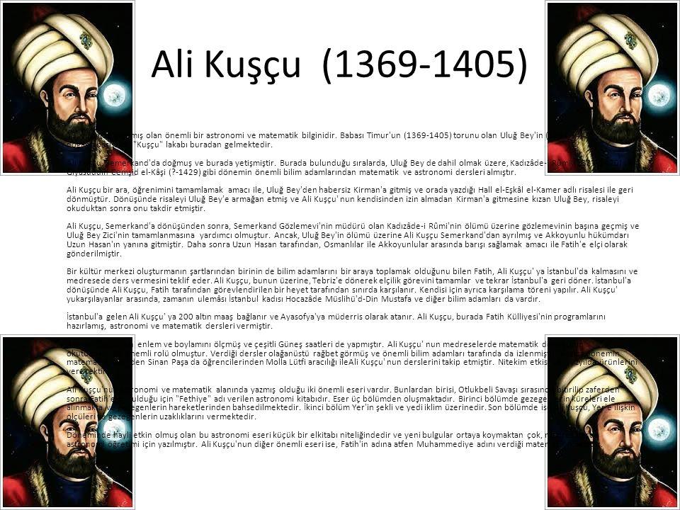 Ali Kuşçu (1369-1405)