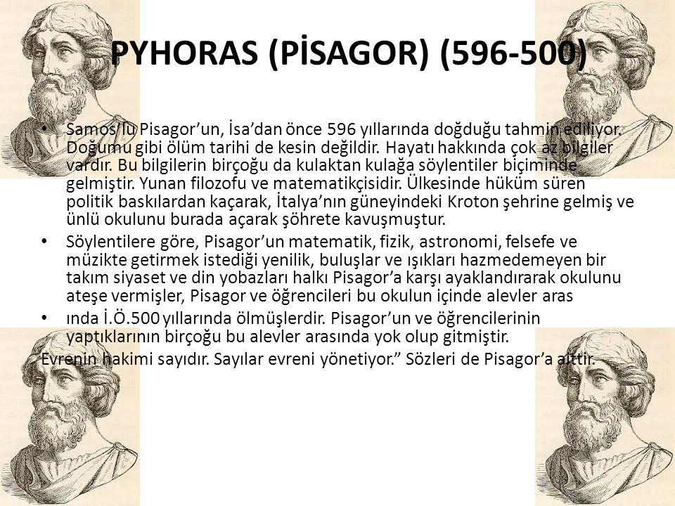 PYHORAS (PİSAGOR) (596-500)