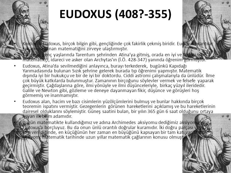 EUDOXUS (408 -355)