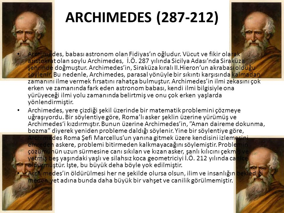 ARCHIMEDES (287-212)