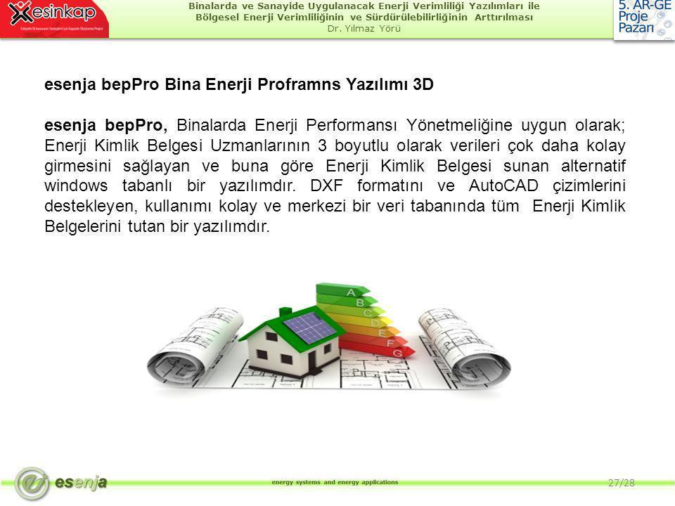 esenja bepPro Bina Enerji Proframns Yazılımı 3D