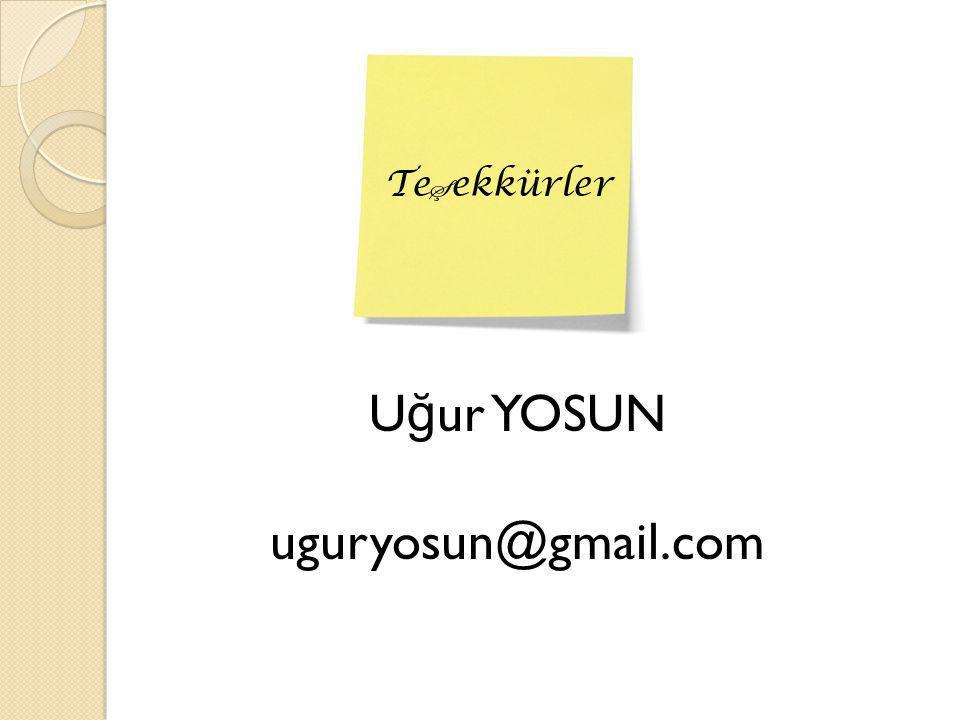 Uğur YOSUN uguryosun@gmail.com