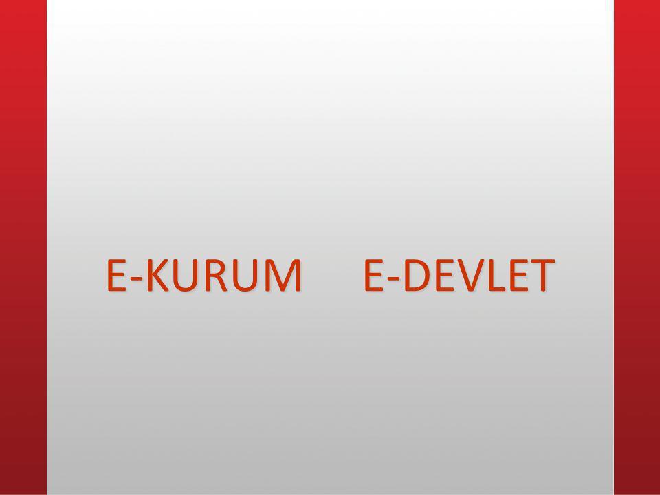 E-KURUM E-DEVLET