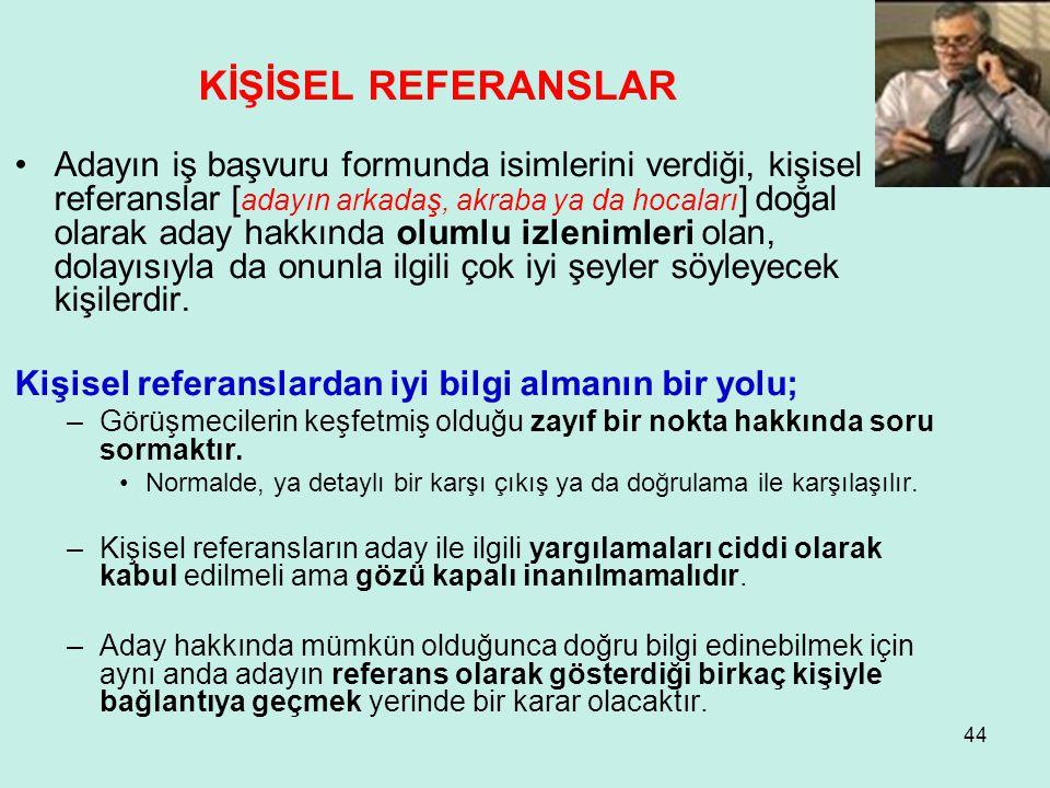KİŞİSEL REFERANSLAR