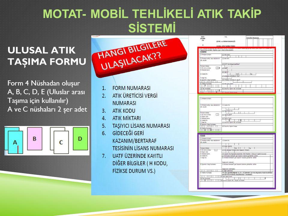 MoTAT- Mobİl Tehlİkelİ AtIk Takİp Sİstemİ