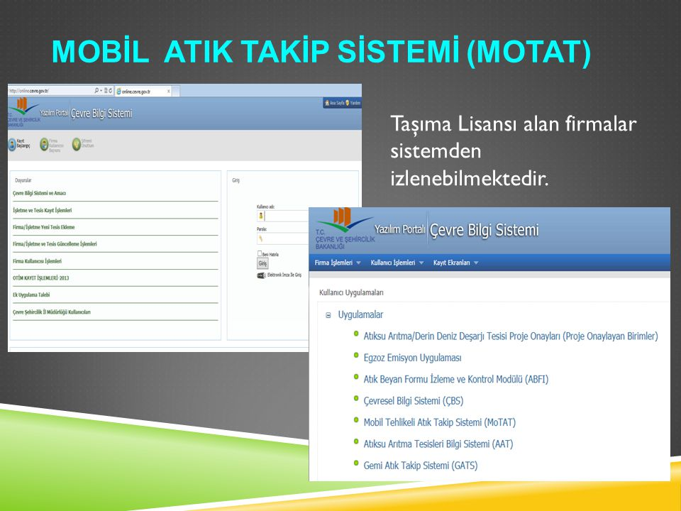 Mobİl Atik Takİp Sİstemİ (MoTAT)