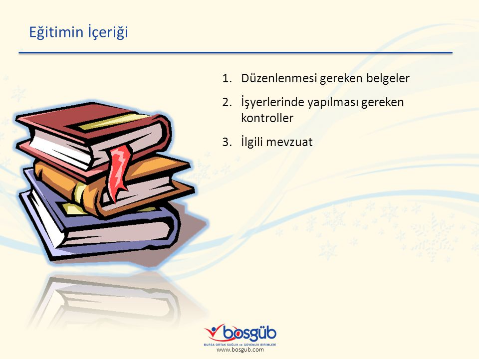 Eğitimin İçeriği Düzenlenmesi gereken belgeler