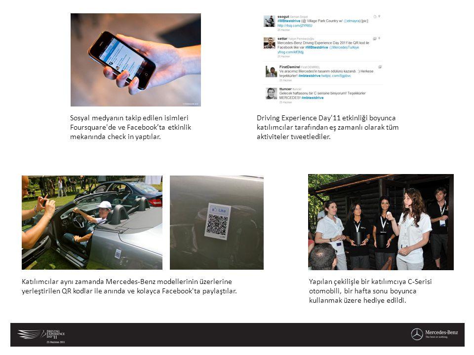 Sosyal medyanın takip edilen isimleri Foursquare de ve Facebook'ta etkinlik mekanında check in yaptılar.