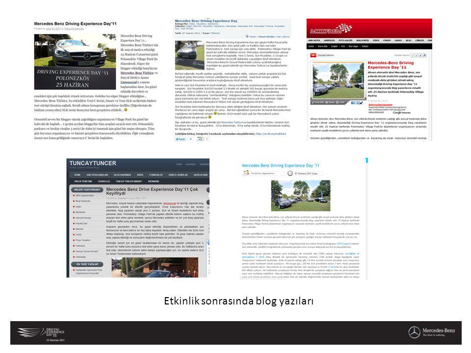 Etkinlik sonrasında blog yazıları