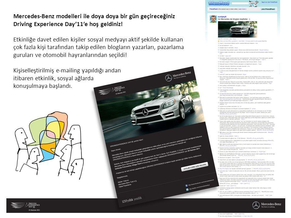 Mercedes-Benz modelleri ile doya doya bir gün geçireceğiniz Driving Experience Day'11'e hoş geldiniz!
