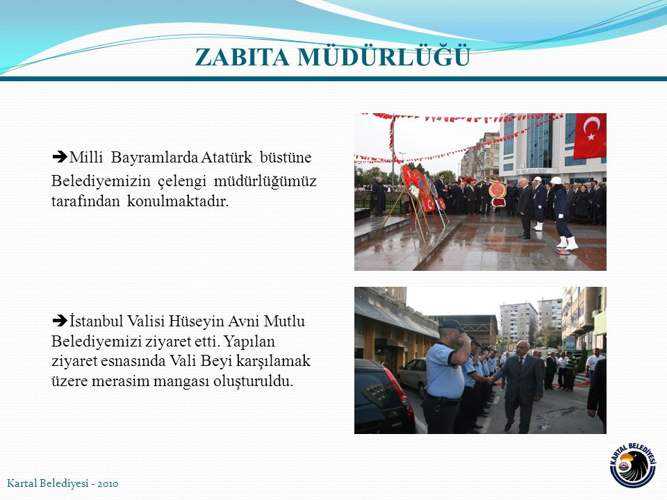 ZABITA MÜDÜRLÜĞÜ Milli Bayramlarda Atatürk büstüne