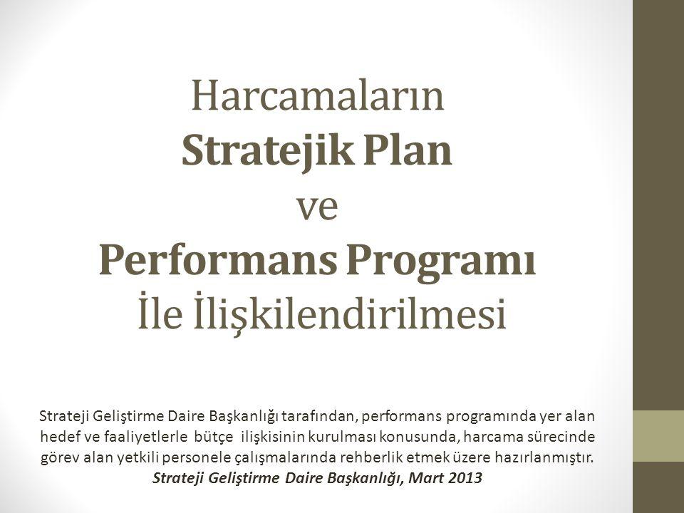 Strateji Geliştirme Daire Başkanlığı, Mart 2013