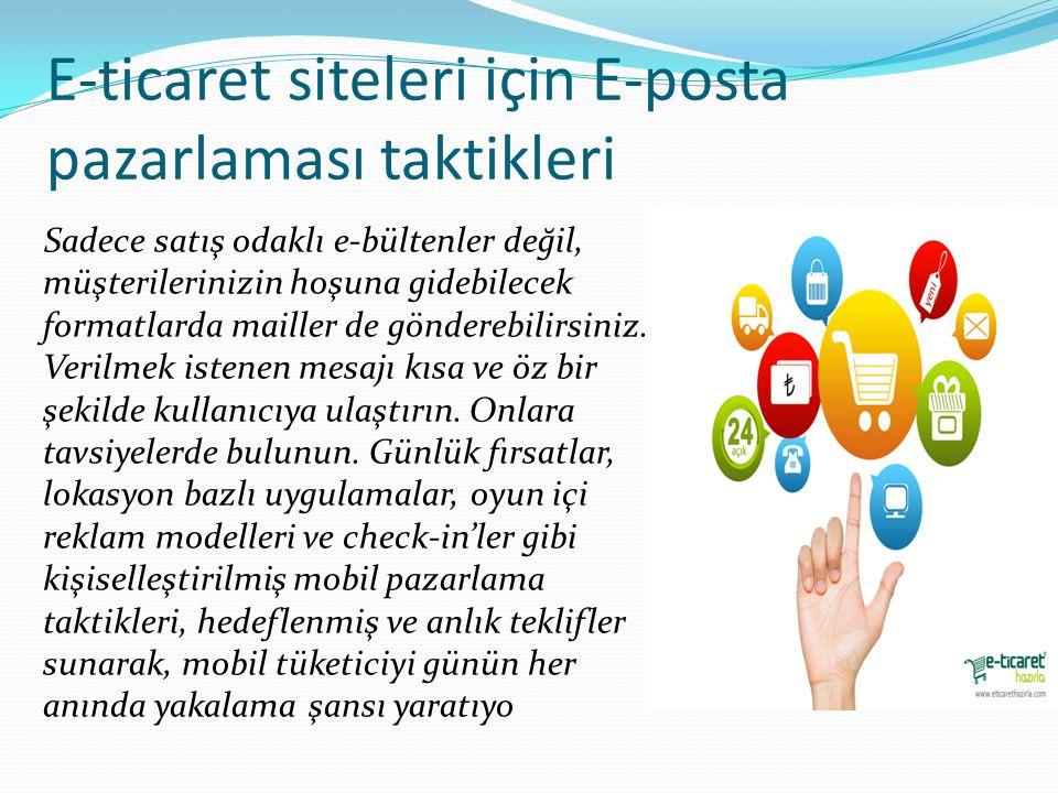 E-ticaret siteleri için E-posta pazarlaması taktikleri