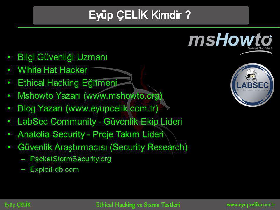 Eyüp ÇELİK Kimdir Bilgi Güvenliği Uzmanı White Hat Hacker