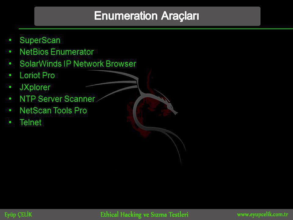 Enumeration Araçları SuperScan NetBios Enumerator