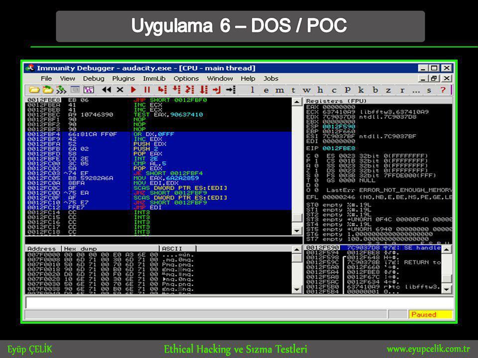 Uygulama 6 – DOS / POC