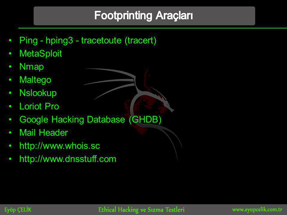Footprinting Araçları