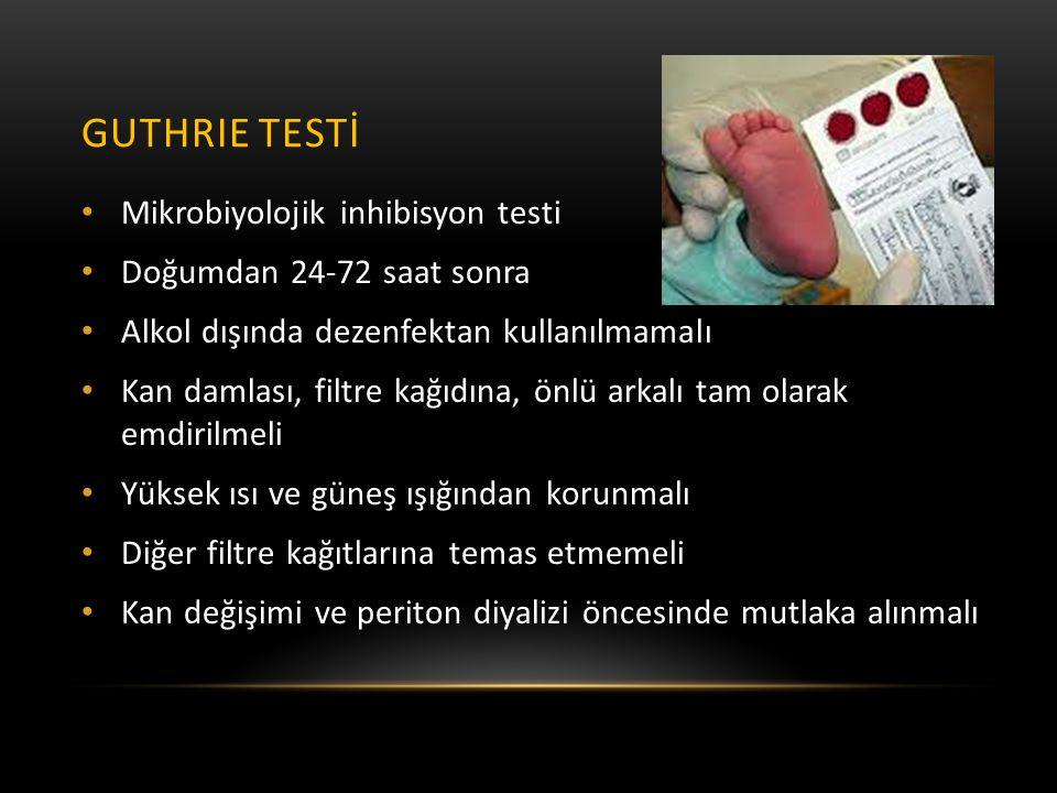 Guthrie testİ Mikrobiyolojik inhibisyon testi