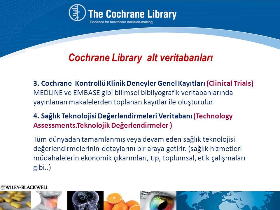 Cochrane Library alt veritabanları