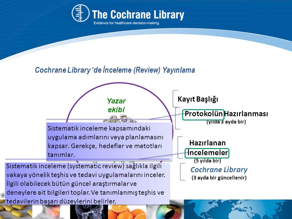 Cochrane Library 'de İnceleme (Review) Yayınlama
