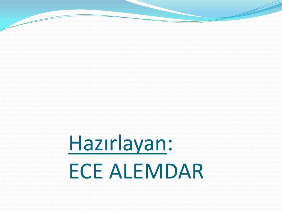 Hazırlayan: ECE ALEMDAR