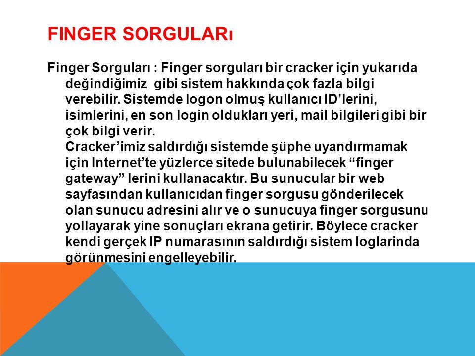 Finger Sorguları