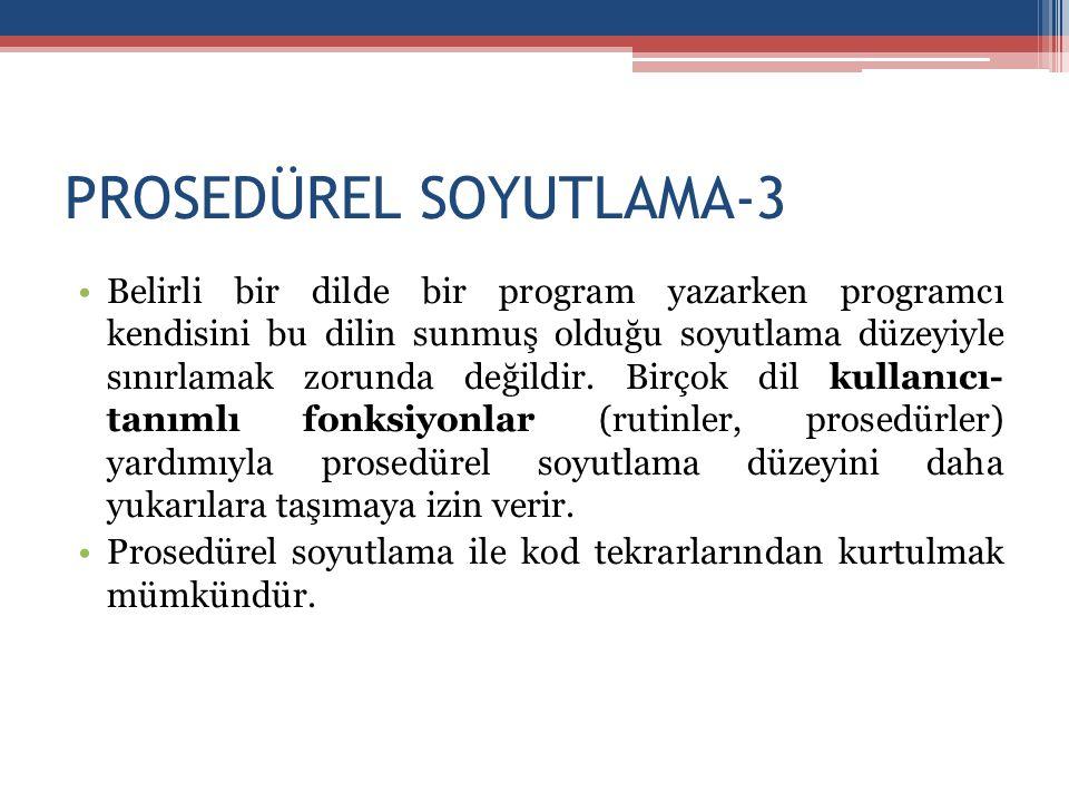 PROSEDÜREL SOYUTLAMA-3