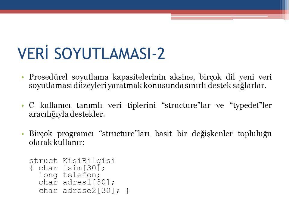 VERİ SOYUTLAMASI-2 struct KisiBilgisi