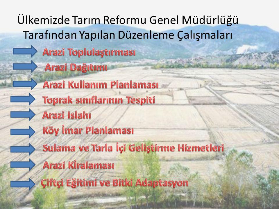 Ülkemizde Tarım Reformu Genel Müdürlüğü