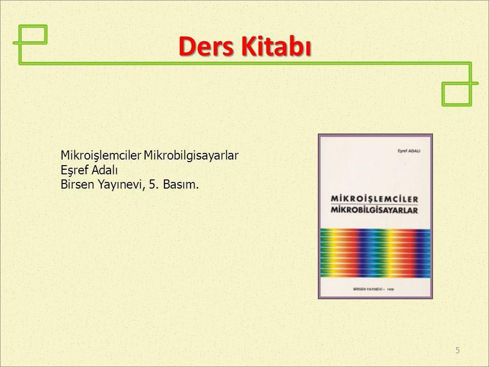 Ders Kitabı Mikroişlemciler Mikrobilgisayarlar Eşref Adalı