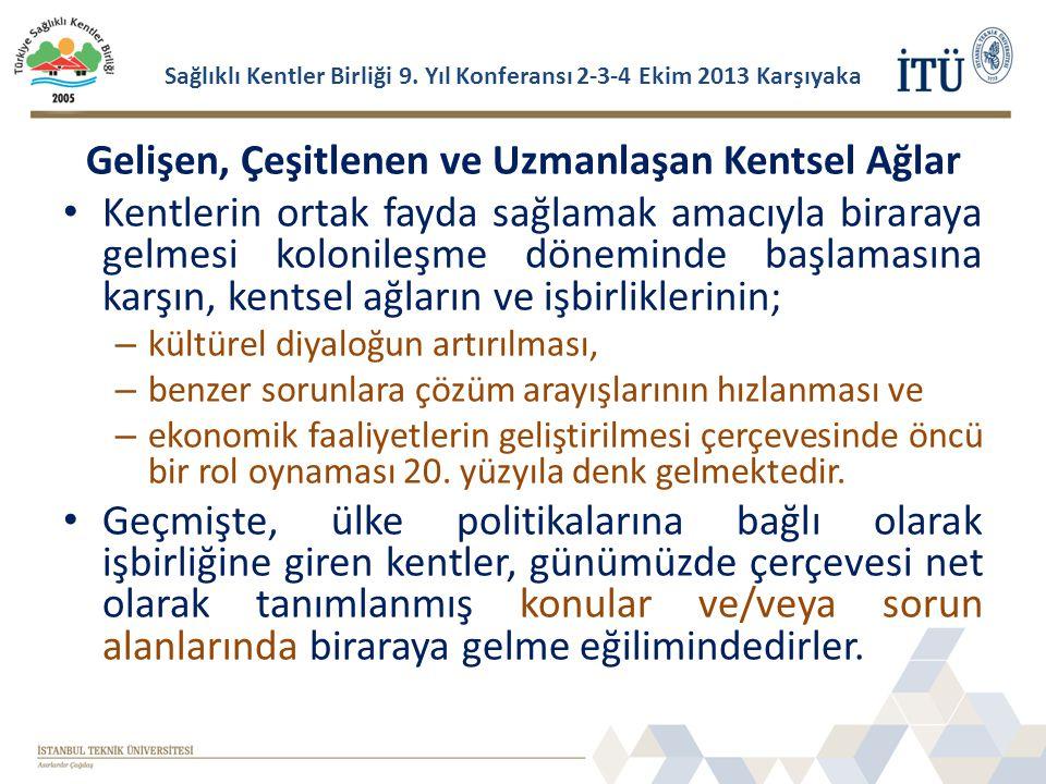 Sağlıklı Kentler Birliği 9. Yıl Konferansı 2-3-4 Ekim 2013 Karşıyaka