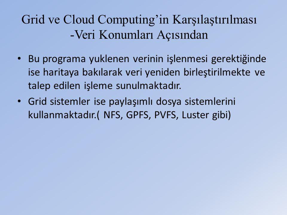 Grid ve Cloud Computing'in Karşılaştırılması -Veri Konumları Açısından