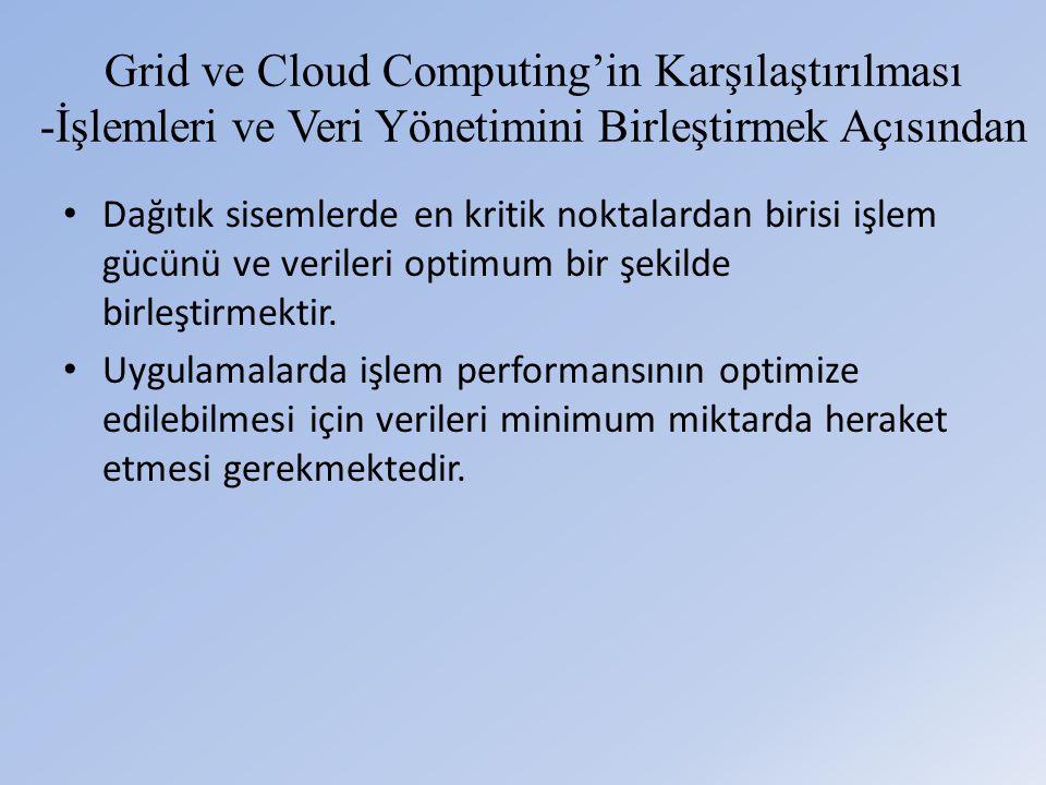 Grid ve Cloud Computing'in Karşılaştırılması -İşlemleri ve Veri Yönetimini Birleştirmek Açısından