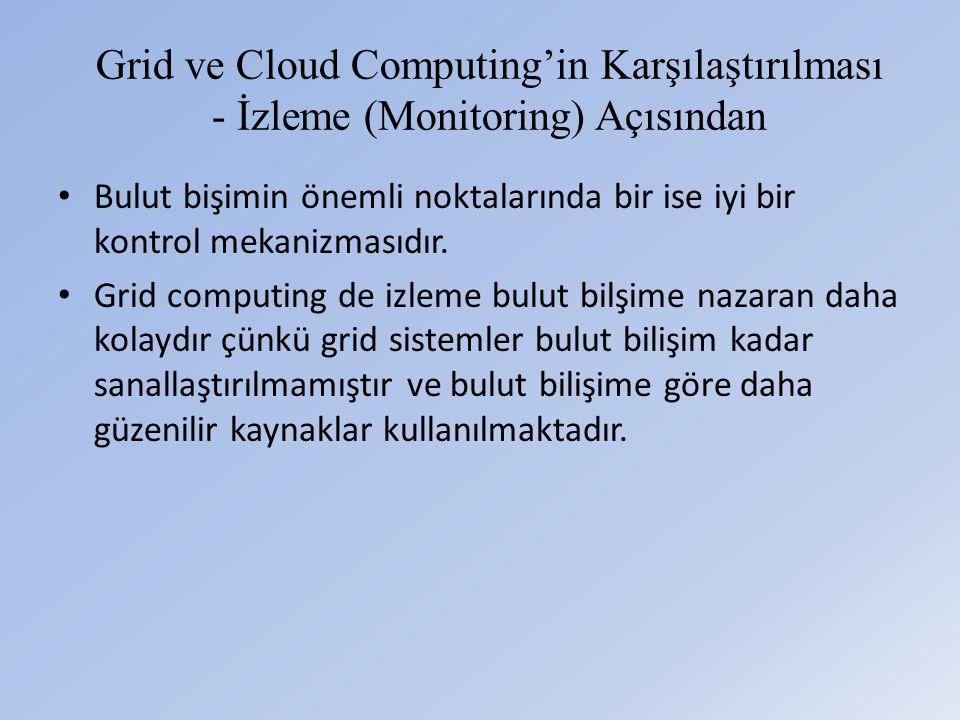 Grid ve Cloud Computing'in Karşılaştırılması - İzleme (Monitoring) Açısından